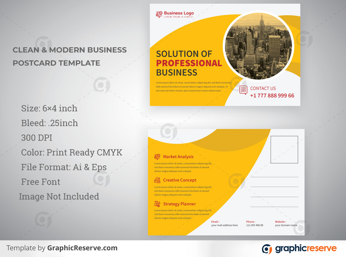 corporate industrial business postcard design 011