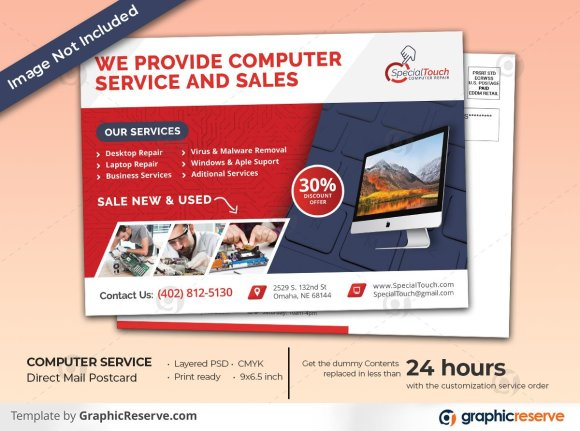 Computer Service EDDM Postcard