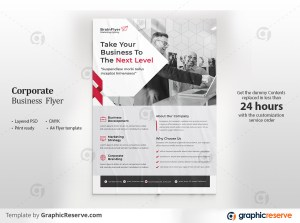 Corporate Business Flyer Red