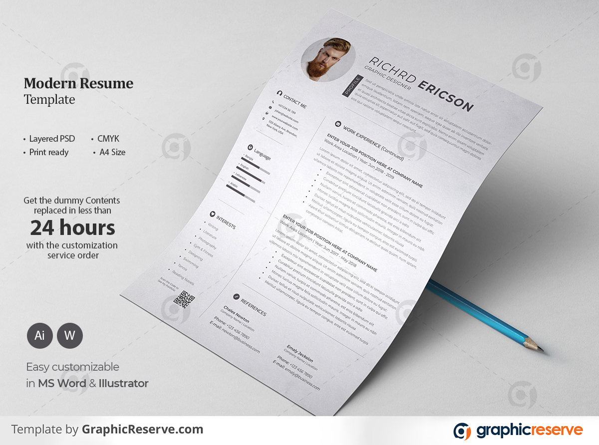 Resume Template Page 01