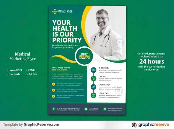 Multipurpose Medical & Healthcare Flyer Template