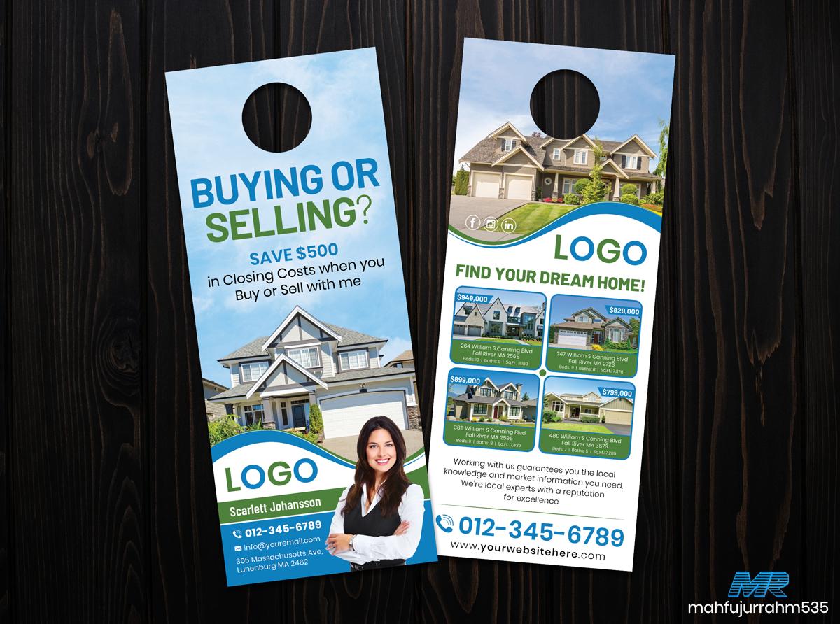Real Estate Door Hanger Green