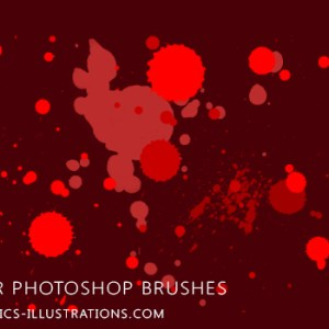 Free download Photoshop Splatter Brushes