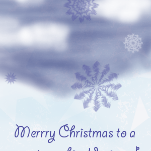 Christmas card – the first one for this year!