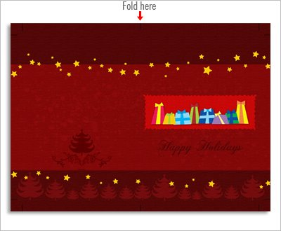 Red Christmas card image, free download, high resolution