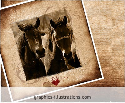 Digital scrapbooking, free download: Sepia