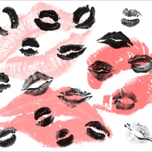Free download Photoshop kisses brushes