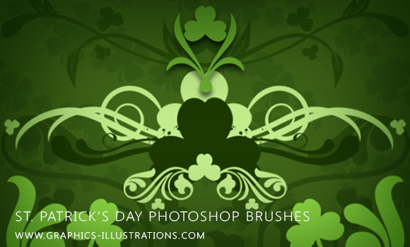 St. Patrick's Day themed Photoshop brushes