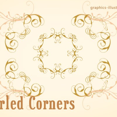Fast Track to Great Designs - Corner swirls, PS brushes set