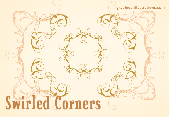 Fast Track to Great Designs - Corner swirls, PS brushes set