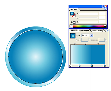 How to create a shiny Web 2.0 button in Illustrator