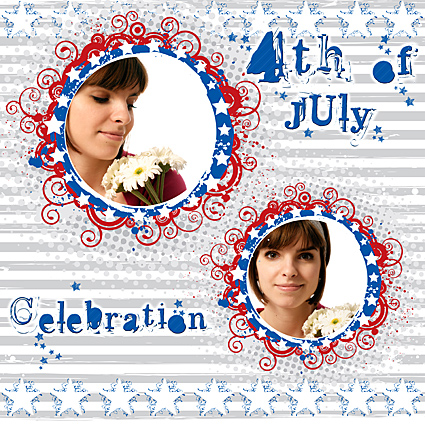 4th of July Scrapbook Quick Page