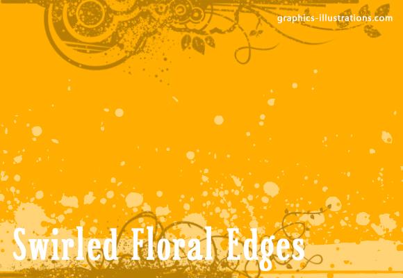 download free version of Swirled Floral Edges GIMP brushes set (4 brushes) ->