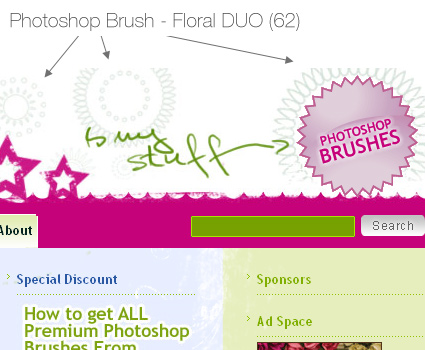 Using Photoshop brushes in web design