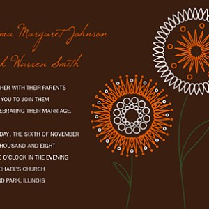 Wordless Wednesday: Free Wedding Invitation created with PS Brush – Floral DUO