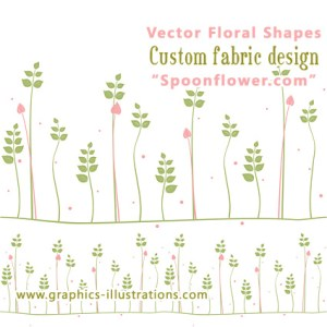 Floral Shapes, Unique Fabric Design and Creativity
