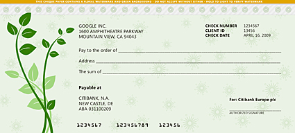 Google cheque redesing (by bsilvia)