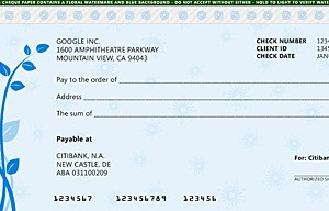 Google cheque redesign (by bsilvia)