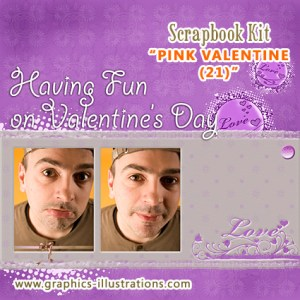 Last Minute Valentine's Day Scrapbook Kit