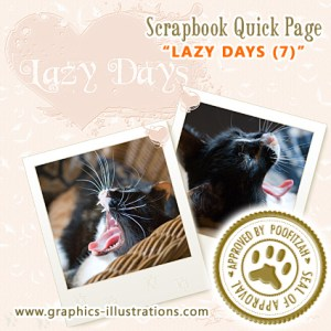 "Digital Scrapbook Quick Page ""Lazy Days"" (Approved by Poofitzah)"