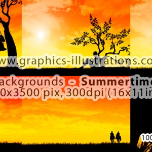 Summertime Sunset Backgrounds & 5 Of Them
