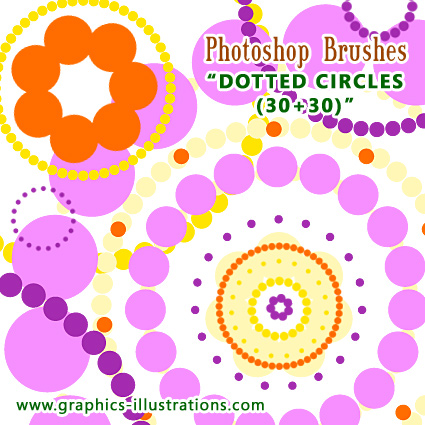 Dotted Circles Photoshop Brushes, Free Download