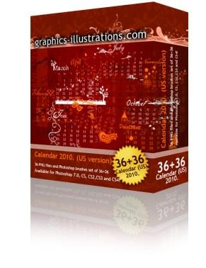 2010 Calendar Photoshop brushes