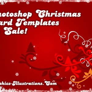 Photoshop Christmas Card Templates – On Sale!