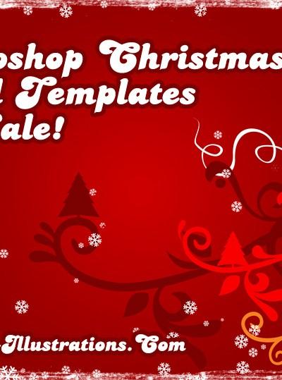Photoshop Christmas Card Templates - On Sale!