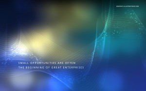 Desktop Wallpaper - The World is Full of Opportunities