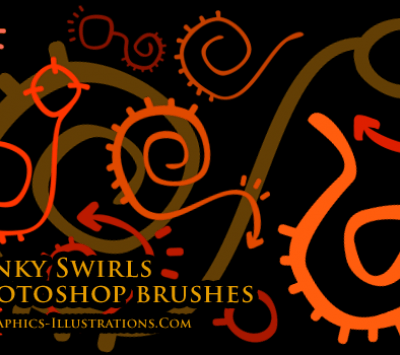 Photoshop brushes - Funky Swirls