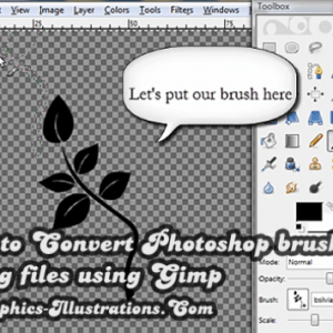 How to Convert Photoshop brushes to PNG files using GIMP