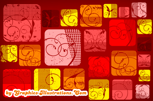 Swirled Squares Design Elements