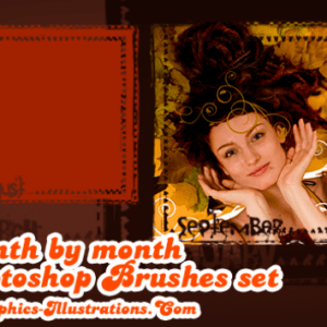 Month by Month Photo Masks, Photoshop brushes