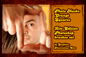Photo Masks Grunge Squares (4) – Photoshop brushes Free Download