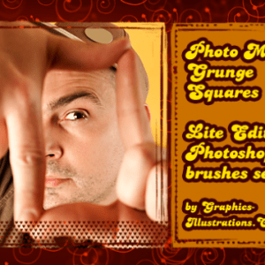Photo Masks Grunge Squares (4) – Photoshop brushes Free Download