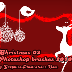 New Christmas Photoshop brushes 2010