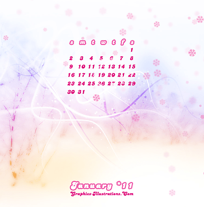 Free Download: January 2011 Calendar Desktop Wallpaper
