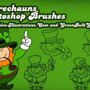 Photoshop Brushes – Leprechauns
