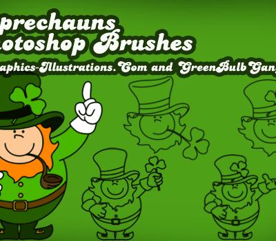 St. Patrick's Day Photoshop brushes - Leprechauns!