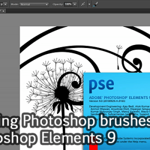 Tutorial: Loading Photoshop brushes in Photoshop Elements 9