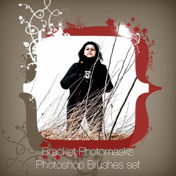 Bracket Photo Masks Photoshop brushes