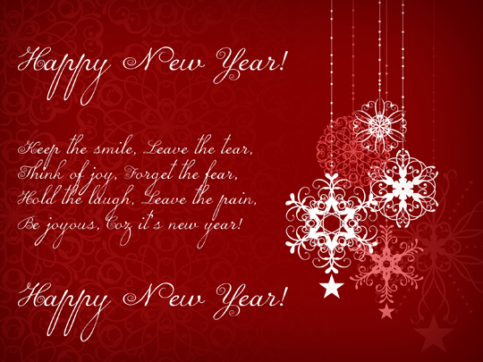 Christmas Card New Year Greeting Card Template