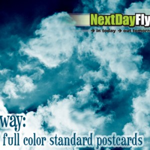 We are giving away 250 4×6 full color standard postcards (gratis, free, it's a gift! Includes FREE shipping in US too!)