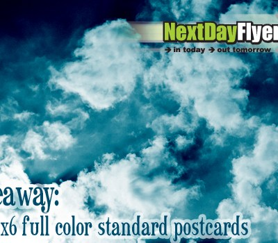 We are giving away 250 4x6 full color standard postcards (gratis, free, it's a gift! Includes FREE shipping in US too!)