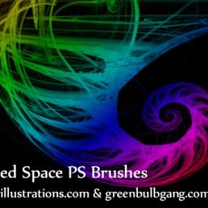 Free Photoshop brushes – Swirled Space
