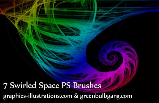 Photoshop brushes, Swirled Space