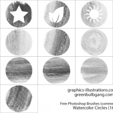 Photoshop brushes: Watercolor Circles