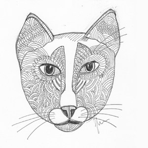CatArt by bsilvia – Zentangle Cat. No. 1 (a.k.a. The Mystery Cat)