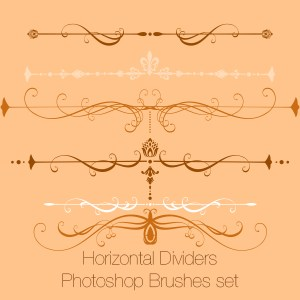 Horizontal Dividers Photoshop Brushes